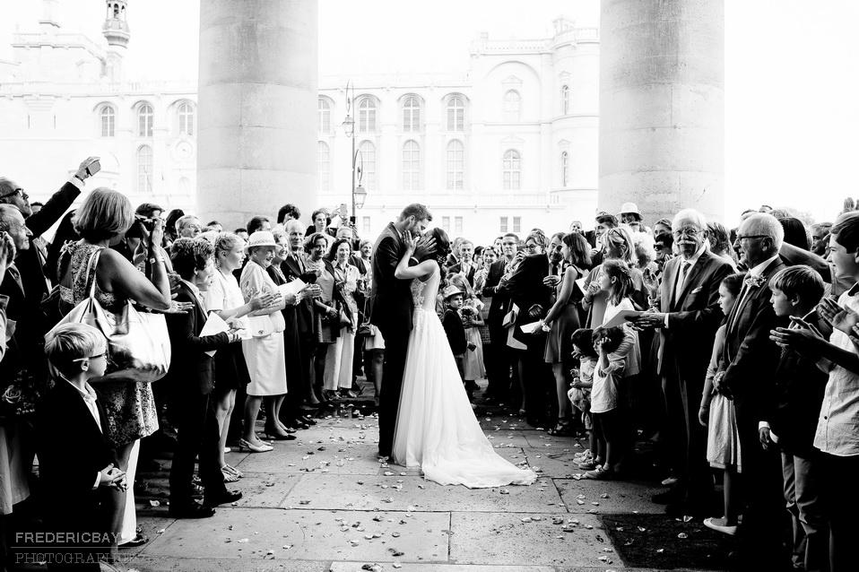sortie de la cérémonie religieuse des mariés