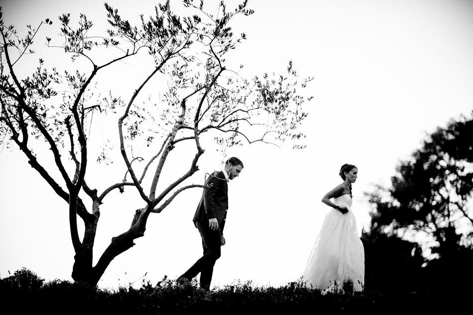 photo des mariés en ombre chinoise