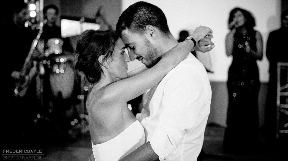mariés pour l'ouverture du bal