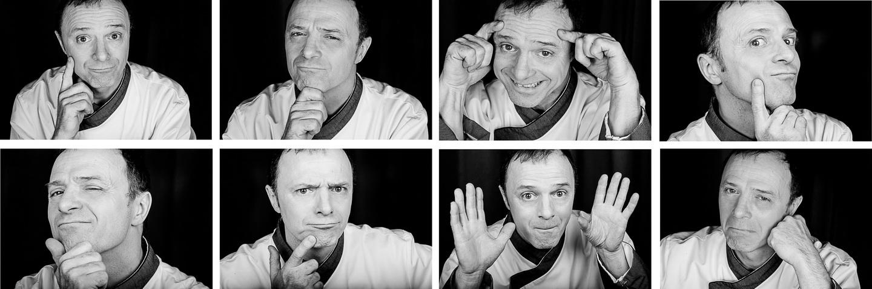 portraits exprimant différentes humeurs humaines