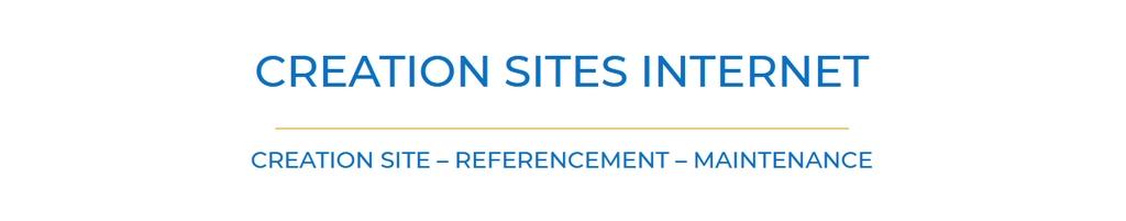 bandeau supérieur de mon nouveau site web sur la création des ites internet